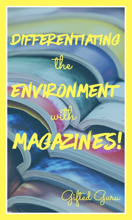 differentiating the environment with magazines!