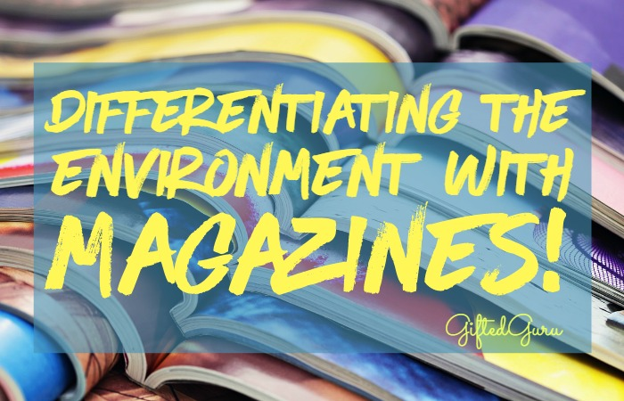 Differentiating the environment with magazines
