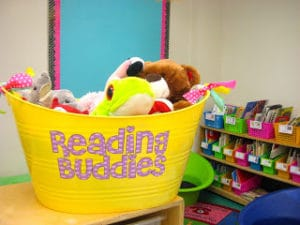 Reading Buddies tub for the classroom