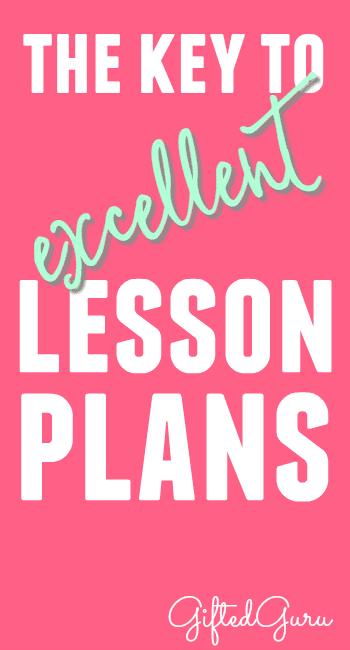 the-key-to-excellent-lesson-plans-pinterest