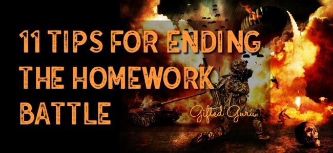 11 steps for ending the homework battle