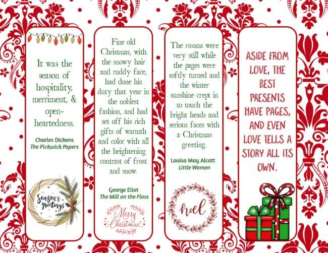 Christmas bookmarks - 1