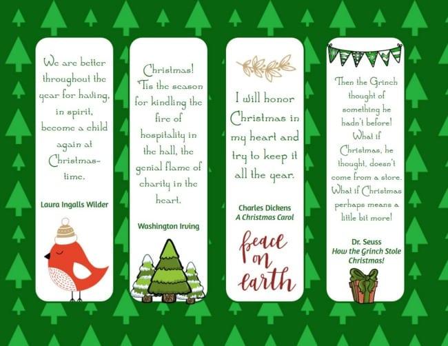 Christmas bookmarks -2