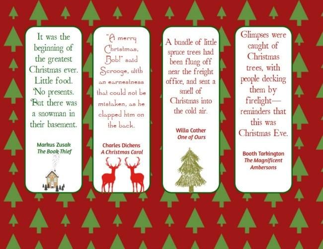 Christmas bookmarks -3