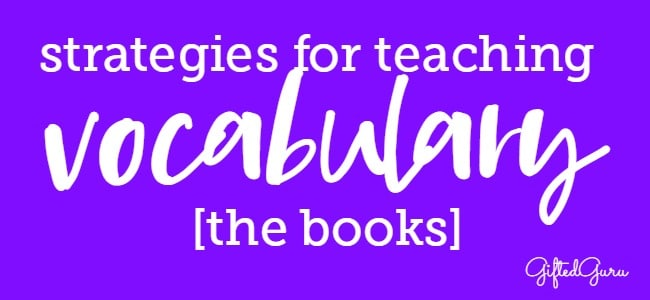 Strategies for teaching vocabulary - the books