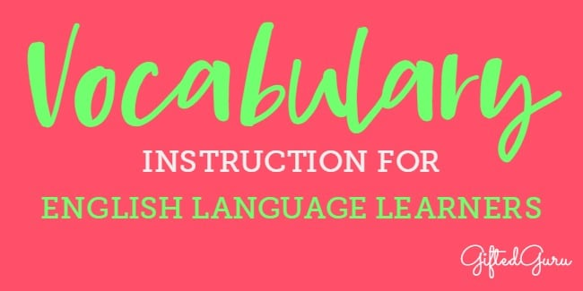 vocabulary instruction for english language learners