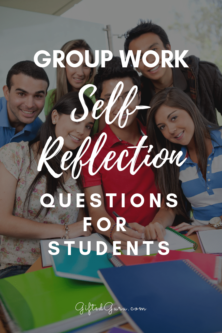 group of students title text group work self-reflection questions for students