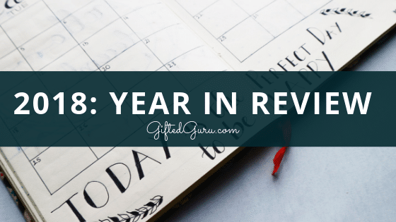 picture of calendar featured image from 2018 Year in Review from Gifted Guru