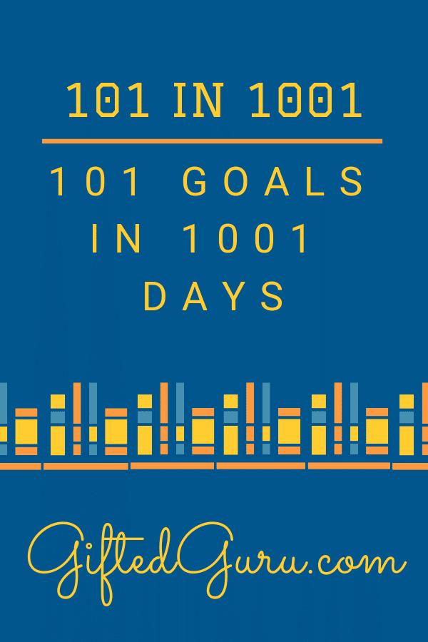 books on blue background pinterest image for blog post on 101 goals in 1001 days
