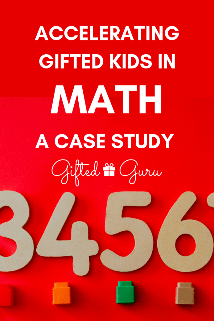 numbers on a red background - cover image accelerating gifted children in math a case study by gifted guru