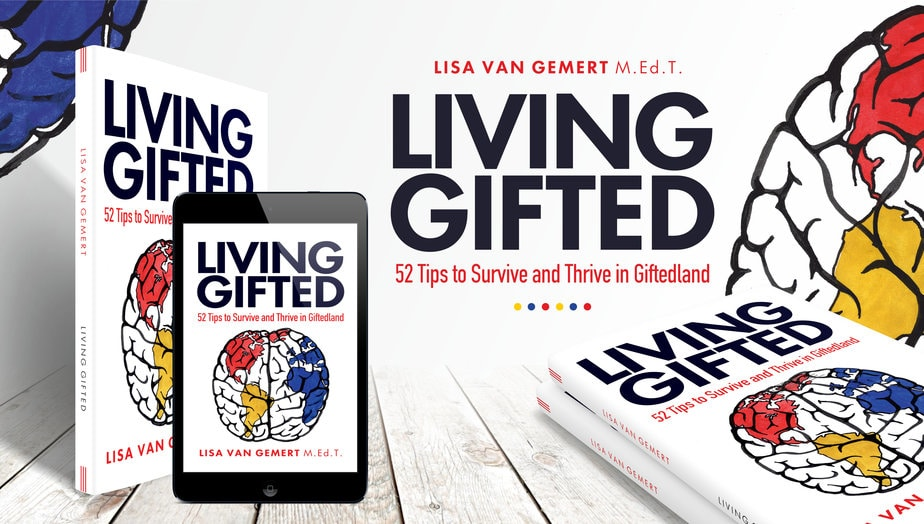3D MOCKUP of Living Gifted by Lisa Van Gemert