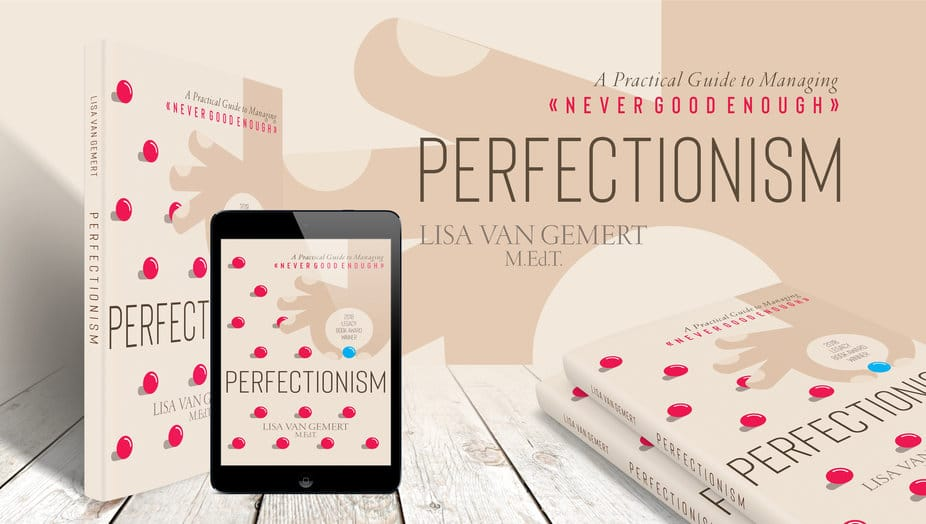 cover of paperback and ebook copies of perfectionism