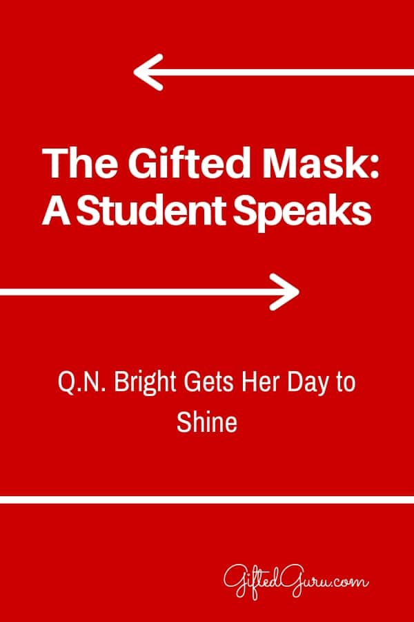 """pinterest image of article """"The Gifted Mask"""" Gifted Guru"""