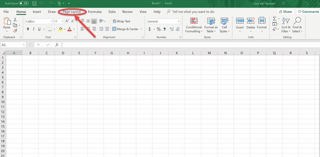 screenshot of choosing color palette in Excel