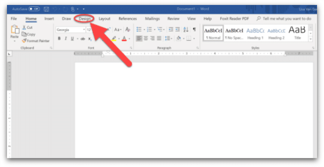 screenshot of changing color palette in Microsoft Word
