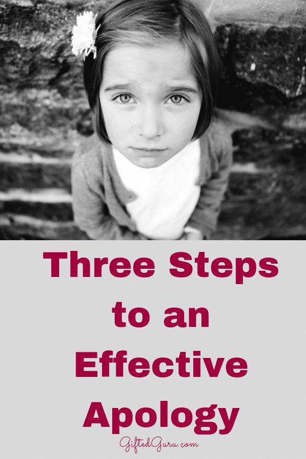 pinterest image for article three steps to an effective apology