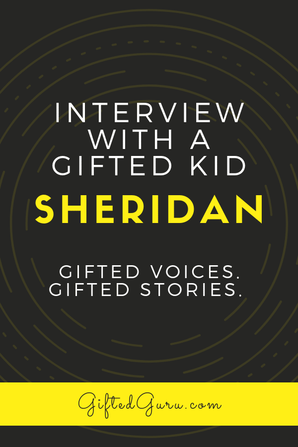 pinterest image for post with words interview with a gifted kid sheridan