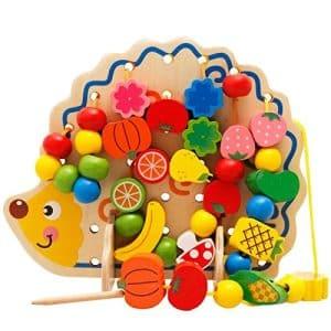 hedgehog lacing board toy