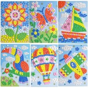 sticker mosaic art kit