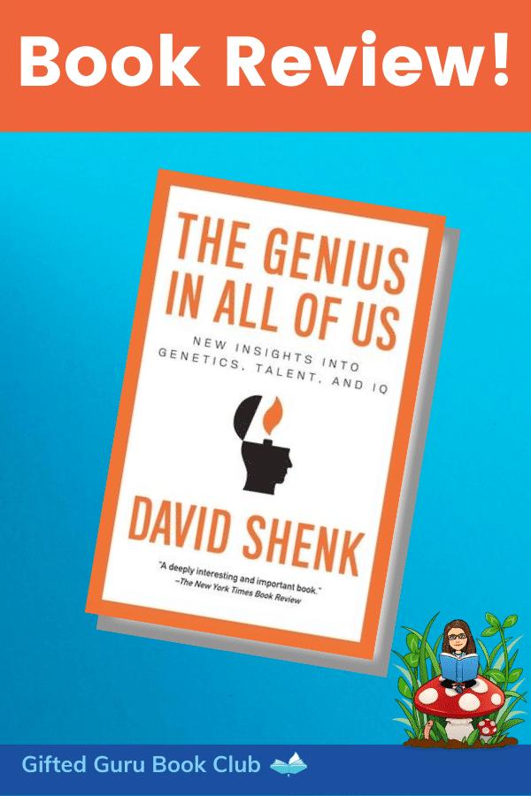 The Genius in All of Us Book Review by Gifted Guru Book Club with bitmoji of Lisa Van Gemert reading
