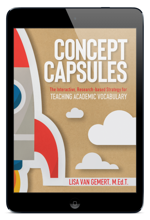 cover of concept capsules book by Lisa Van Gemert