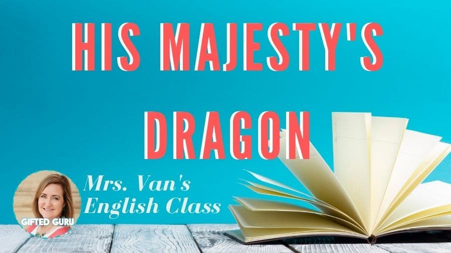 open book with cover his majesty's dragon