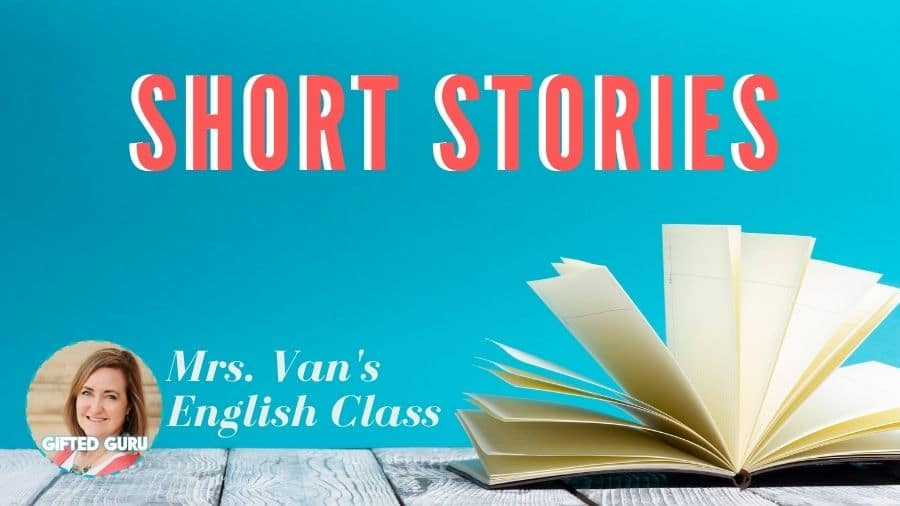 open book with title short stories