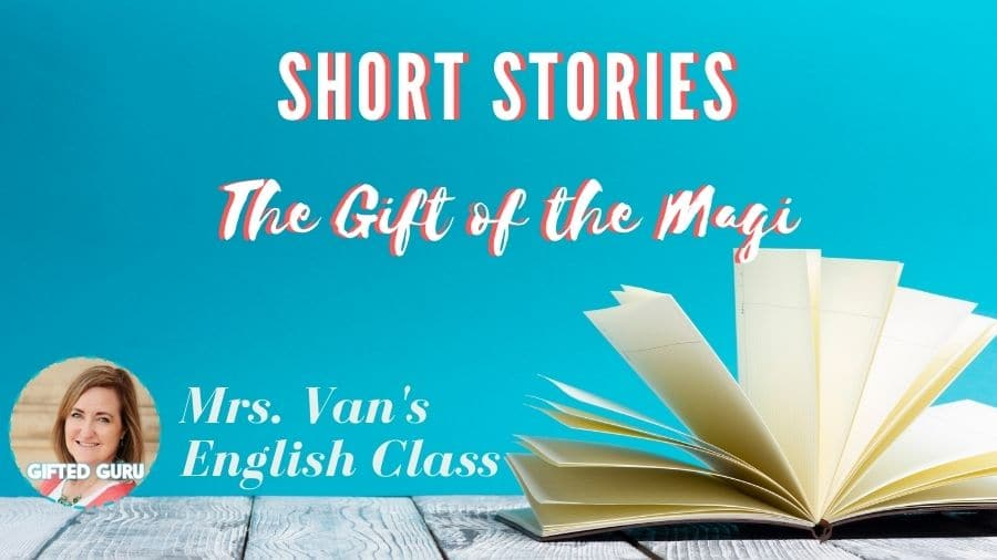 open book with title the gift of the magi