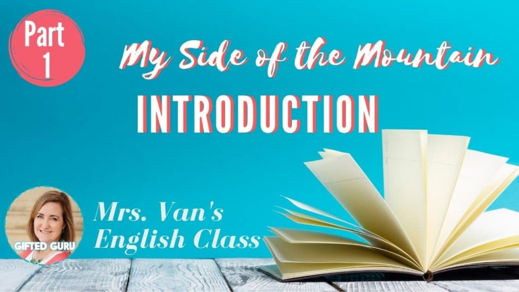 open book with title my side of the mountain introduction