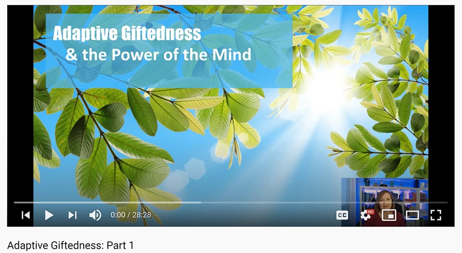 sunlight through trees and title adaptive giftedness