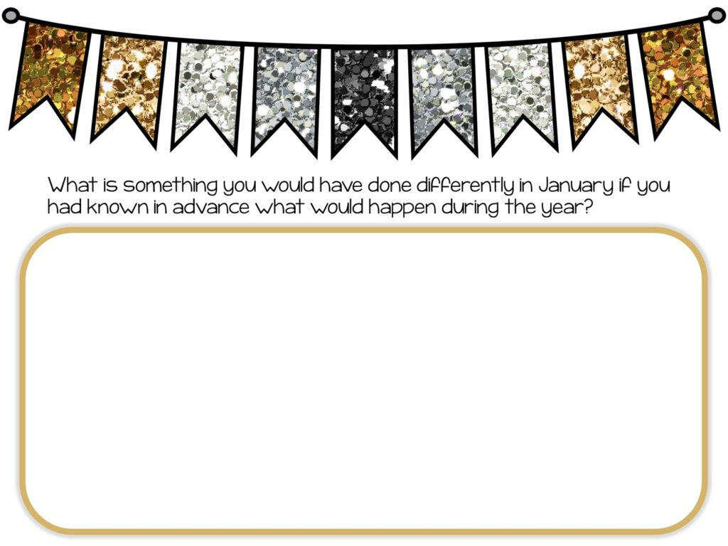 glittery banner with text and text box